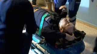 Ayağı asansöre sıkışan işçinin ayağı kırıldı!